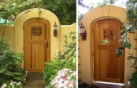 arched wood garden gate designs