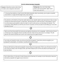 a descriptive paragraph pdf