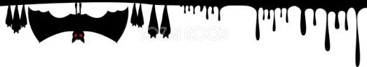 ハロウィンラインコウモリ洞窟怖いイラスト無料フリー84292 素材good
