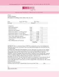 permalink to wedding makeup artist contract template