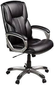 office leather chair. AmazonBasics High-Back Executive Chair - Black Office Leather Chair