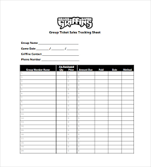 Ticket Sales Spreadsheet Template 13 Tracking Spreadsheet Templates Doc Pdf Free