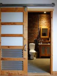 #Industrial #bathroom Style With #exposed #conduit And #wood #design.