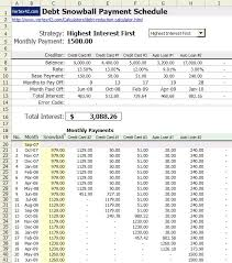 credit card payoff calculator excel use snowball method spreadsheet to pay off debts consumerist