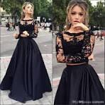 Black lace top dress 2017