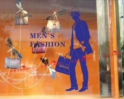 Small Picture Aliexpresscom Buy Clothes Shop Wall Sticker Man Design Mens