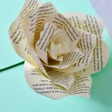 Paper Flower Print Out Personalised Newspaper Print Paper Rose By Paper Posies