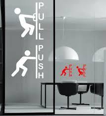push pull vinyl door stickers