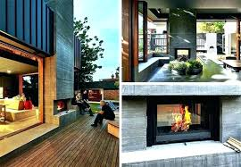 double sided gas fireplace indoor outdoor architecture unusual idea double sided fireplace indoor outdoor two wood