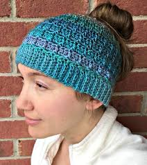Free Crochet Pattern For Messy Bun Hat Interesting Simple Textured Messy Bun Hat Free Crochet Pattern Amanda Saladin