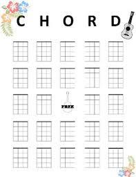 Blank Ukulele Chord Chart Printable Ukulele Chord Bingo