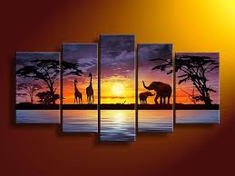 wall art painting city scape painted canvas wall art african elephants deer animals savannah modern on african elephant canvas wall art with wall art designs wall art painting city scape painted canvas wall