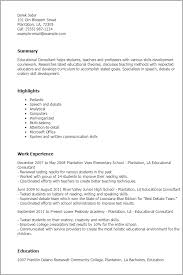 1 Educational Consultant Resume Templates Try Them Now