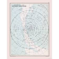 Star Charts For Southern Hemisphere International Star Chart Southern Hemisphere Bartholomew 1892 23 X 30 01