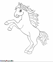 Cute Horse Coloring Pages With Cute Horse Coloring Page Animals