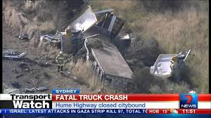 Fatal truck crash @ Ingleburn - YouTube