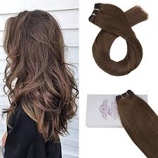 Light Brown Weave Sew In Moresoo 18inch Weft Hair Extensions Human Hair Double Weft Human Hair Bundles 8 Light Brown Human Hair Extensions Sew In Weft Black Human Hair Weave