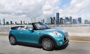 blue mini cooper convertible 2015. can raise or drop its roof at up to 18mph but alas canu0027t turn into an mx5 whatever speed you do blue mini cooper convertible 2015