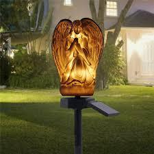 led ground buried solar light angel