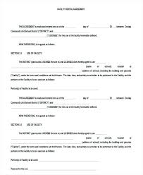 Rental Agreement Letter Sample Awe Inspiring Facility Rental Lease ...