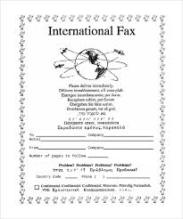 6 Generic Fax Cover Sheet Templates Free Sample Example Format