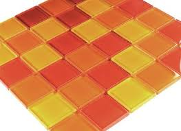 glass mosaic tile yellow orange red mix mosafilcouk