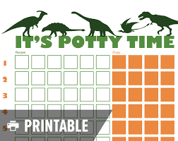 Potty Training Chart Potty Training Chart Dinosaur It's Potty 12