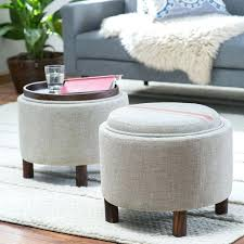 circle ottoman living round storage ottoman with cocktail tray round ottoman coffee table