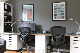corner workstations for home office. Cozy Ikea Office Ideas With Corner Desk And Black Chair Plus Storage Shelf Workstations For Home I