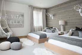scandinavian bedroom furniture. scandinavian bedroom with wooden accent wall and pops of gray design reed group furniture