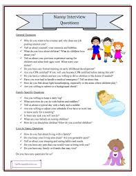 Nanny Interview Questions Grab Your Printable Checklist Pinterest