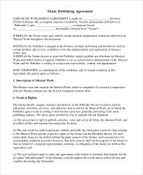 Music Contract Music Agreement Contract Sample 7 Examples In Word Pdf