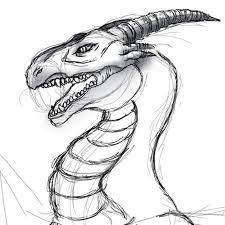 ラクガキドラゴン顔 絵描魂