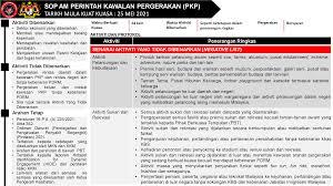 Sop am pkp 3.0 yang dikeluarkan oleh mkn. Kementerian Perusahaan Perladangan Dan Komoditi Garis Panduan Sop Am Perintah Kawalan Pergerakan 3 0