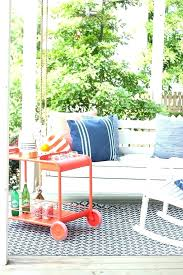 red striped outdoor rug colorful rugs trimaran stripe pouf mingled denim pillow in tangerine white area