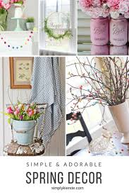 Adorable and simple spring decor ideas---projects that won't take forever