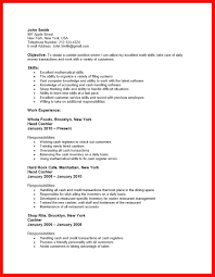 Resume Examples Cashier Grocery Store