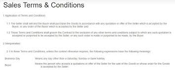 screenshot of teleadapt terms and conditions page