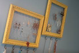 diy frame jewelry organizer