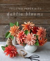 Paper Flower Kit Video Tutorial New Frosted Paper Dahlia Flower Kit Lia