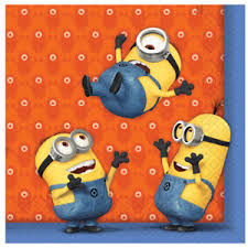 Image is loading Minion-Napkins-Quality-Pack-of-20-Kids-Birthday-