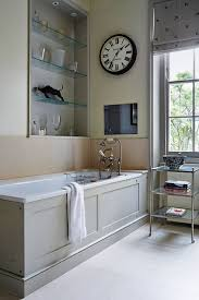 small bathroom clock: alicia taylor  simplysmart house aug aliciataylor b x