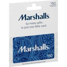 marshalls gift card 50 gift cards