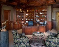 traditional home office design. Traditional Home Office Design Living Room Fabulous Powder With Patterned Wallpaper Lund Residence Interior Ideas M