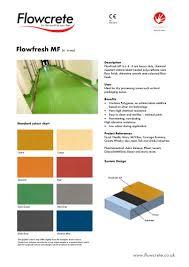 Flowcrete Color Chart Flowfresh Mf Flowcrete Uk Pdf Catalogs Documentation
