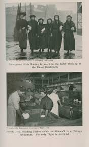 immigration and citizenship in the united states  image of immigrant girls coming to work and polish girls washing dishes