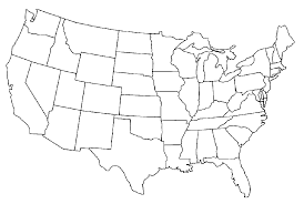 United State Map Template Under Fontanacountryinn Com