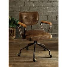 brown leather office chairs. Terrific Acme Furniture Top Grain Leather Office Chair In Vintage Whiskey Space Brown Desk Chairs F