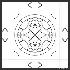 frame geometric seamless background window on the ceiling in square frame symmetric composition vector ilrations stained glass panels for
