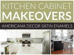kitchen cabinet makeovers satin enamels